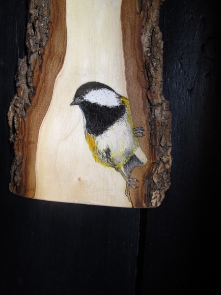 Great and Coal tit on Ash / Carboneros común y garrapinos sobre Fresno. Detail / Detalle. VENDIDO / SOLD