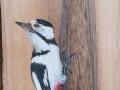 Obra de Javier Morala. Artesanía. Pintura en madera. Molino del Canto. Las Merindades. Burgos. Castilla y León. España. © Javier Prieto Gallego